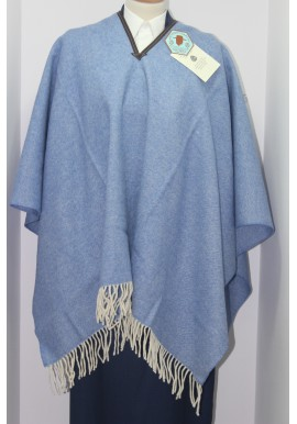 STAR PONCHO WITH TRIM