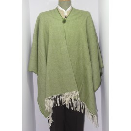 LARGE HERRINGBONE PONCHO